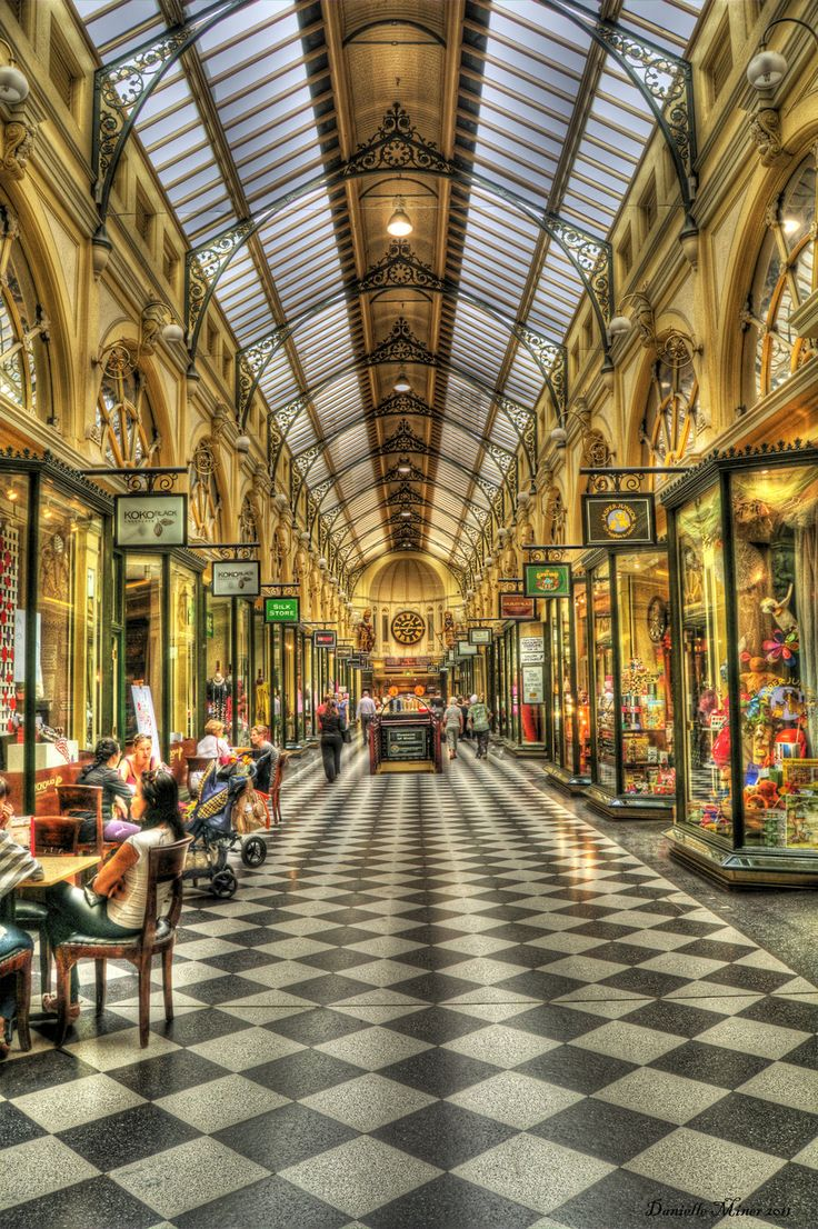 The Royal Arcade (situated off Bourke St. Melbourne).