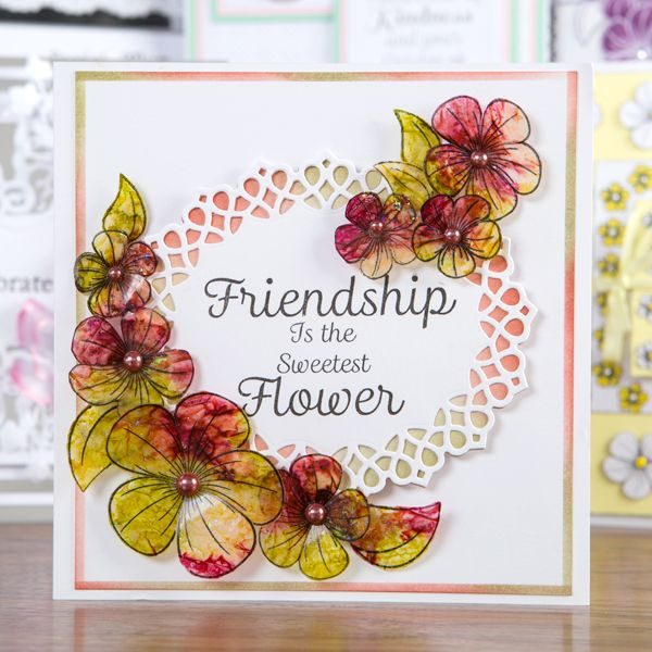 Honey Doo Crafts Friendship Forever Collection - Friendship Quotes and Trio of Flowers - 9 Elements (345695)   Create and Craft