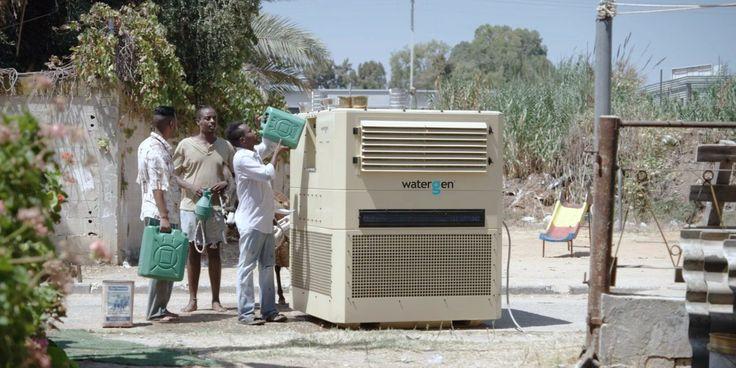 Máquina transforma vapor do ar em água potável