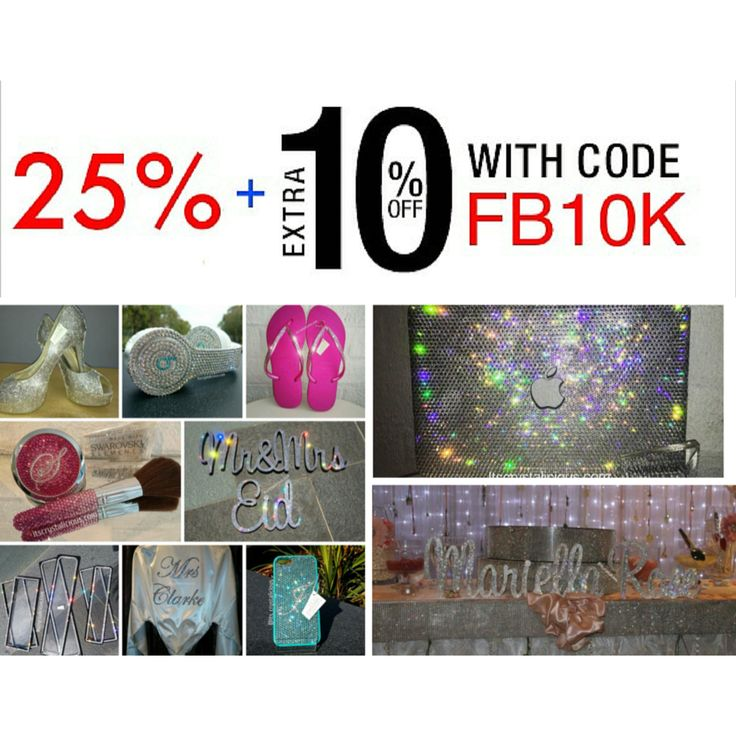 ✨ 35% OFF  3 Days ONLY ✨  Get an EXTRA 10% OFF all @swarovski Embellished items STOREWIDE.    Coupon Code: FB10K    www.itscrystalicious.com