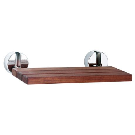 Hudson Reed Luxury Shower Seat with Chrome Hinges - LA371
