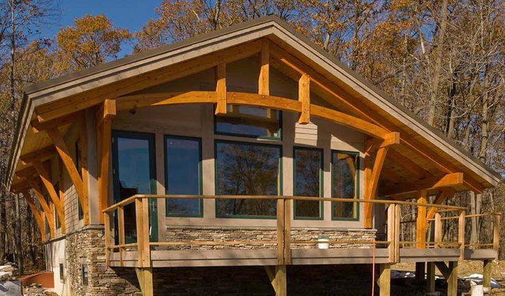Best 25 timber frame houses ideas on pinterest timber for Timber frame house plans with walkout basement