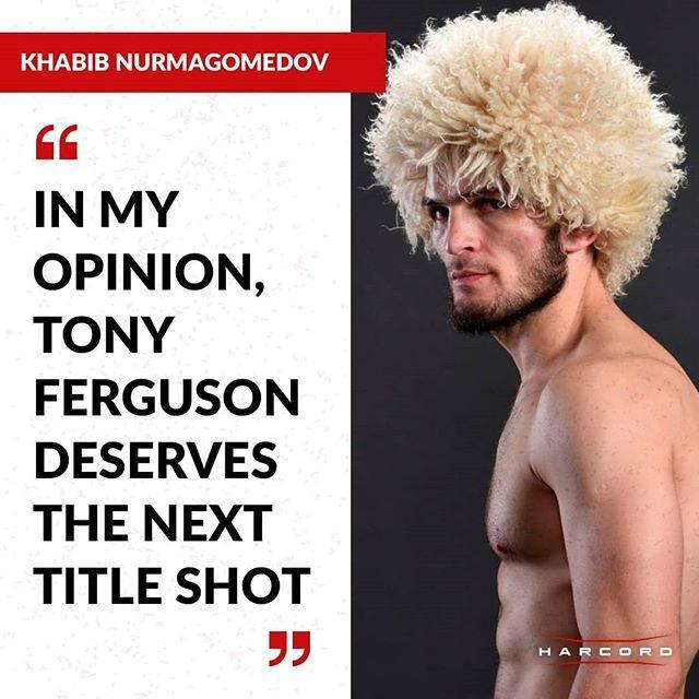 Khabib Nurmagomedov In My Opinion My Opinions Tony Ufc