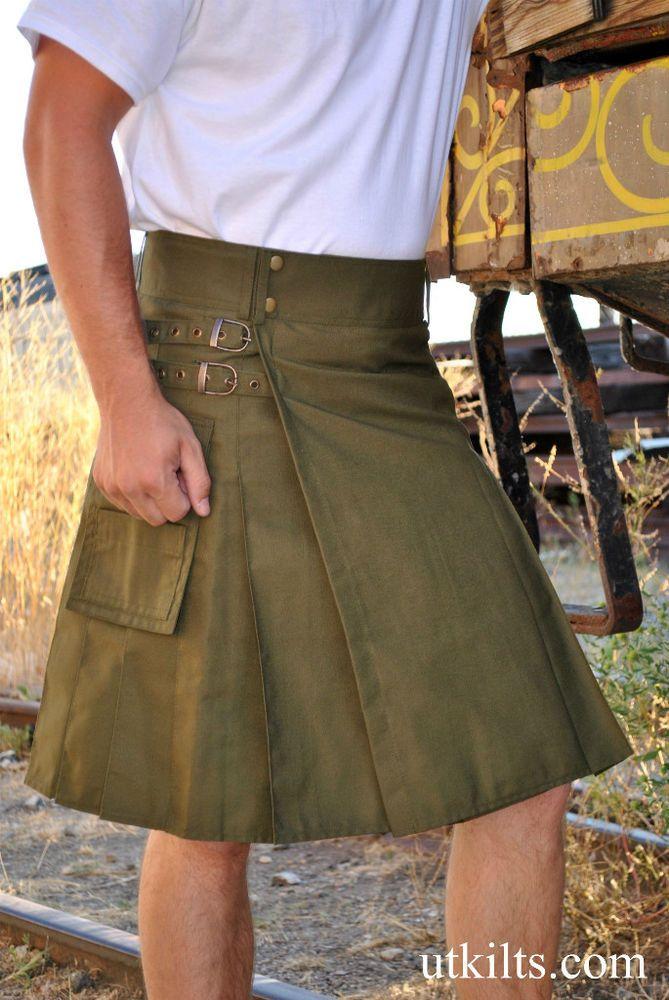 UTK STANDARD Olive Green Utility / Modern Kilt  #Kilt $55