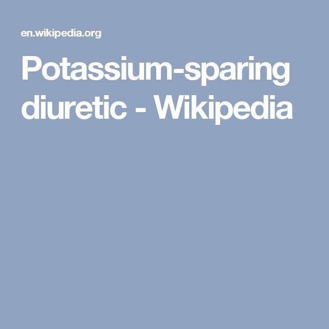 Potassium-sparing diuretic - Wikipedia