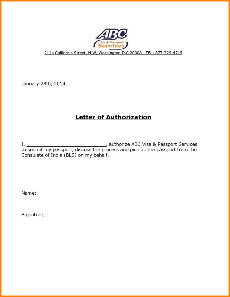 Authorization Letter Receive Passport Jpg June Author Frasiska