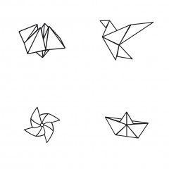 1000 id es sur le th me tatouage origami sur pinterest tatouage grue tatouage de crane de. Black Bedroom Furniture Sets. Home Design Ideas