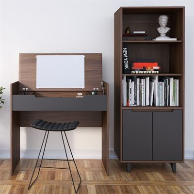 Nexera Alibi Desk & Storage Set