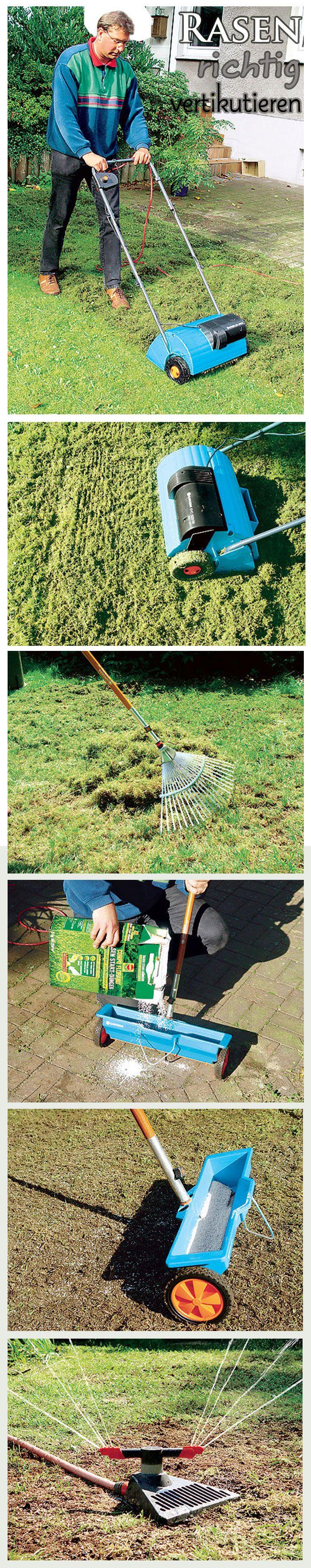 Nur den Rasen zu mähen reicht nicht: Ab und an sollte man den Rasen auch vertikutieren. Vor allem im Frühjahr ist das hilfreich, um den Rasen besser durchzulüften. So kann er stärker nachwachsen. Wir zeigen, wie man den Rasen richtig vertikutiert.