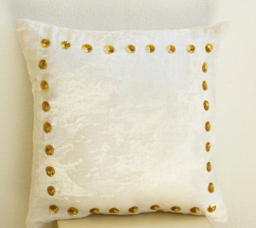 Decorative Throw Pillow Cover in Ivory White Plush Velvet... https://www.amazon.co.uk/dp/B00FNUR40Q/ref=cm_sw_r_pi_dp_fp5ExbGQ3CVWC