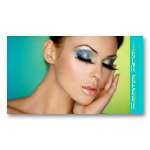 makeupbusiness | Closed eyes makeup business card templates - Zazzle.com.au