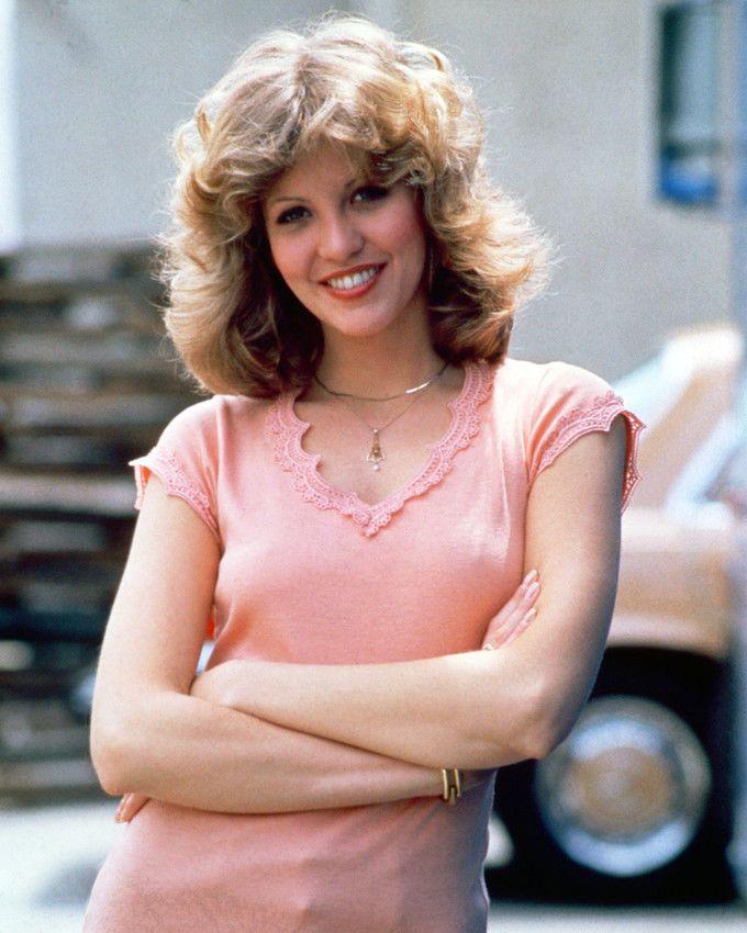 Nancy Allen on the set of CARRIE