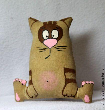 Котофей - коричневый,кофейная игрушка,чердачная игрушка,кот,ароматизированная игрушка