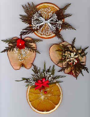Dried Fruit Ornaments, Wreaths and Swags *seal w/ clear acrylic sealer*