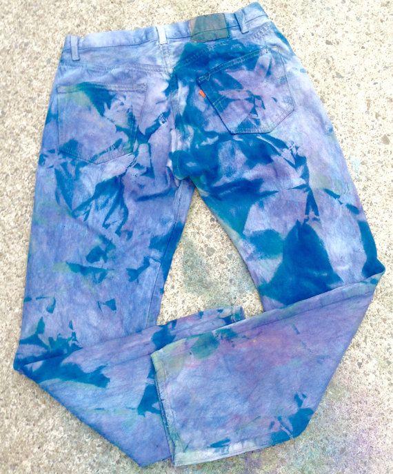 Tie-Dyed Levi Jeans Levi 501 Jeans sz 32/30 by KarynJamieDesigns