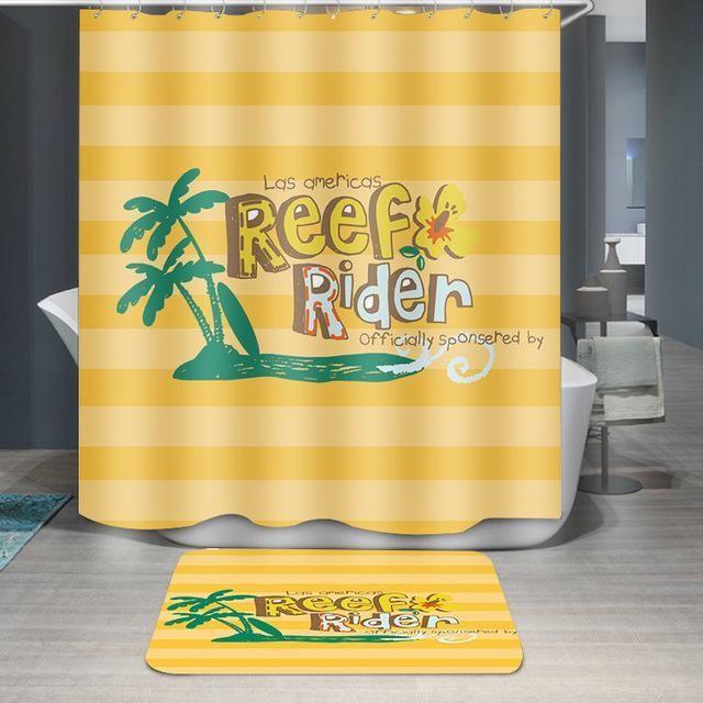 3d Digital Printing Cartoon Shower Curtain Mildewproof Bath
