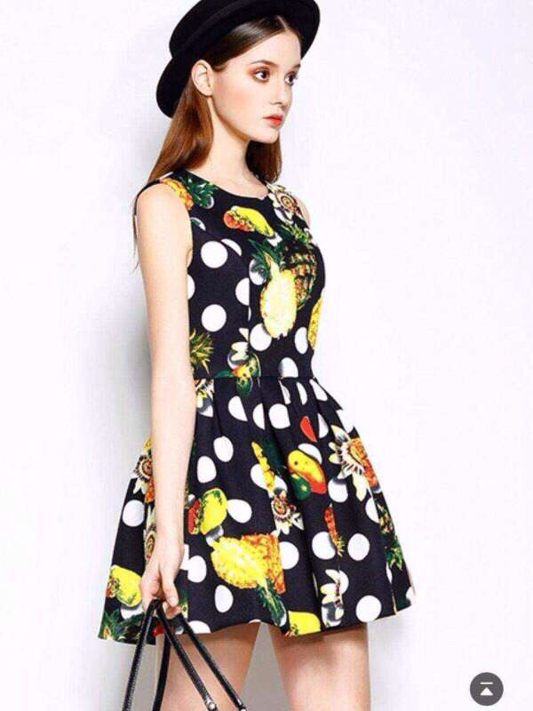 Print design dress