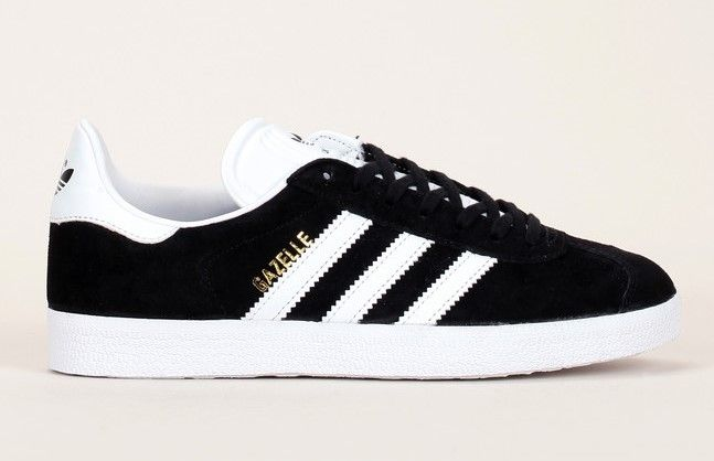 Sneakers noires en cuir suède détails blanc Gazelle Adidas Originals pour femme prix Baskets Monshowroom 99.00 €