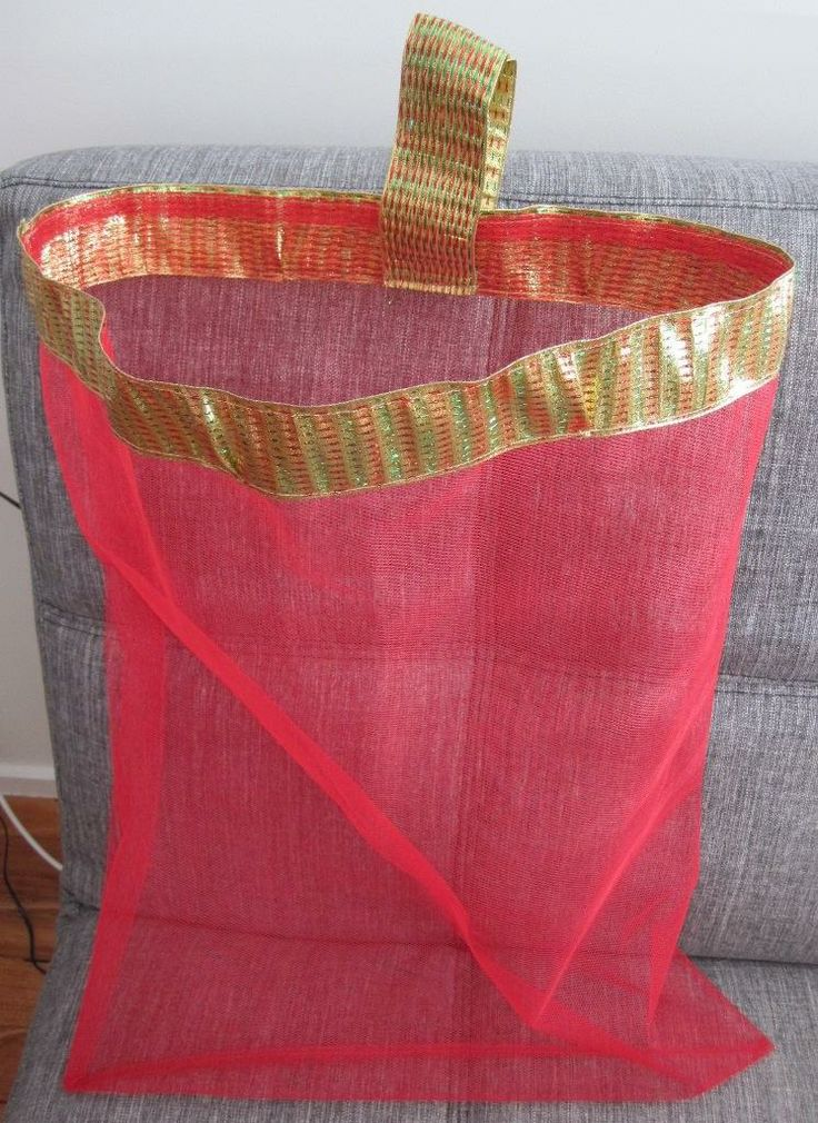 Christmas Santa Sack  Hand Crafted from Tulle so See Through to Gifts in Home & Garden, Parties, Occasions, Other | eBay SELLER ID: kathy_a1