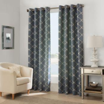 West Bay Grommet Window Curtain Panel In Indigo
