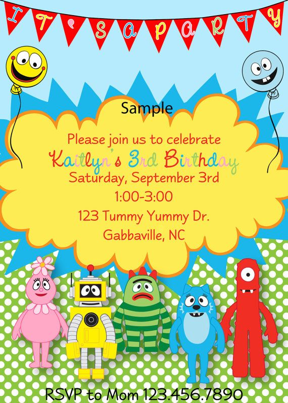 349 best yo gabba gabba images on pinterest | yo gabba gabba, Wedding invitations