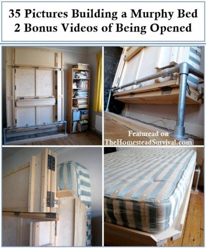 35 Pictures of Building a Murphy Bed - The Homestead Survival