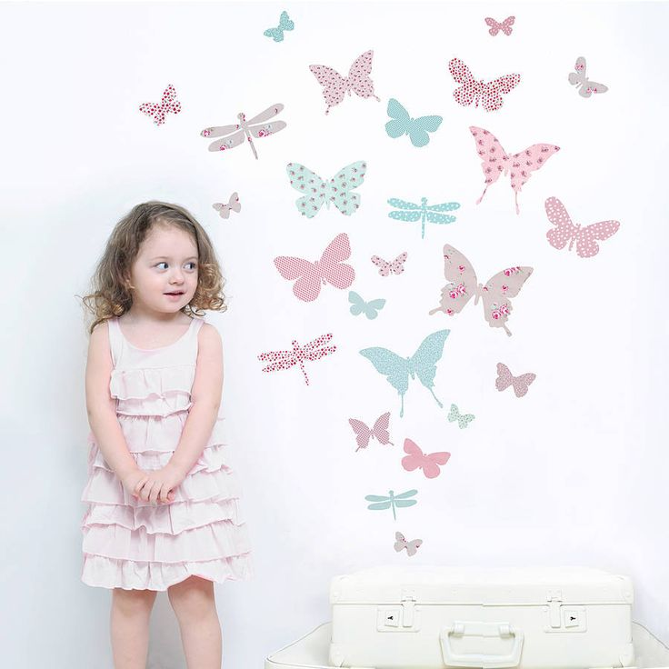 Childrenu0027s Butterfly Fabric Wall Stickers Part 81