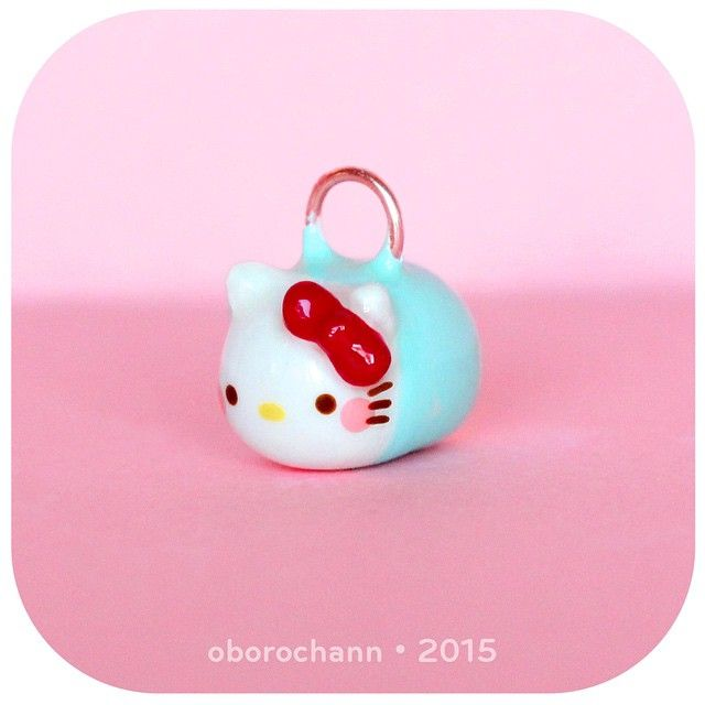 Hello kitty tsum tsum polymer clay creation by Oborochann