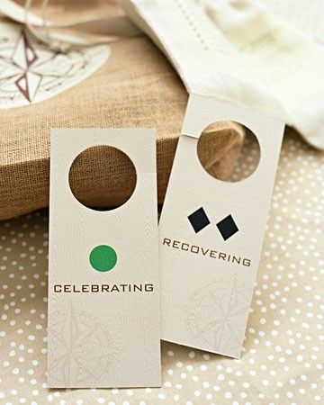 These hotel room door signs are SO perfect! - welcome bag ideas