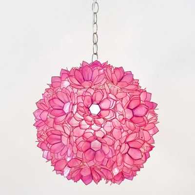 Hot Pink Lotus Pendant