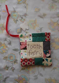 Patchwork tooth fairy bag