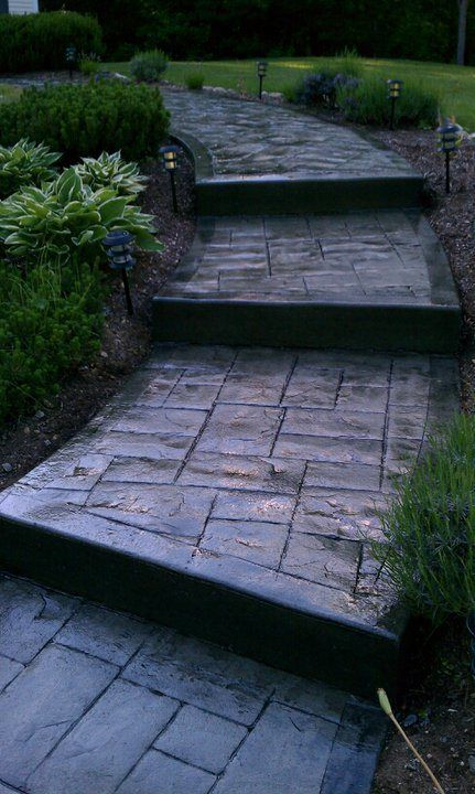 alternative walkways | Stamped Concrete Walkway MA – Decorative Concrete Contractor ...