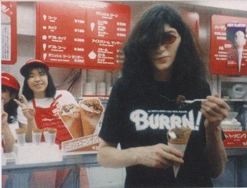 Joey Ramone in Japan, 1980.