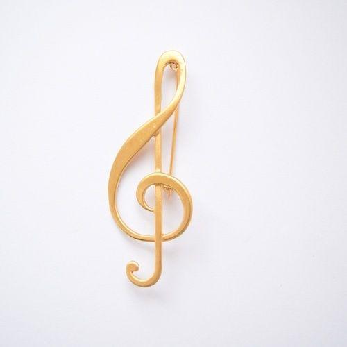 Broszka - Klucz wiolinowy duż