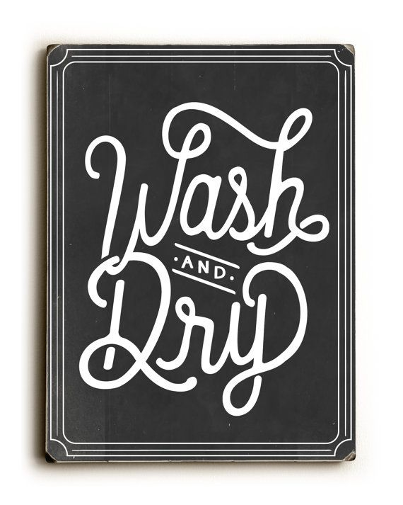 Wash and Dry Wood Sign Laundry Room Fold by letteredandlined