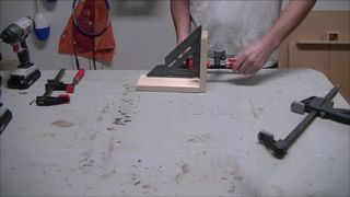 I made a corner clamp out of a couple of squares, some epoxy and a few screws. The idea here was to have something that I can use to clamp 90 degree angles with. I...