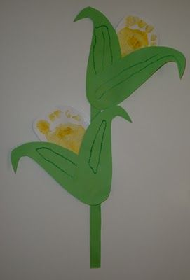 Handprint and Footprint Arts  Crafts: Non-Turkey-Themed Thanksgiving Ideas Using Hands  Feet