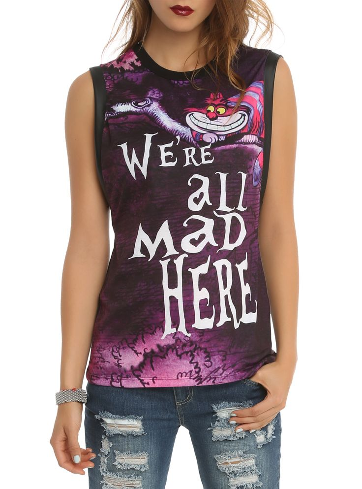Disney Alice In Wonderland We're All Mad Girls Muscle Top:
