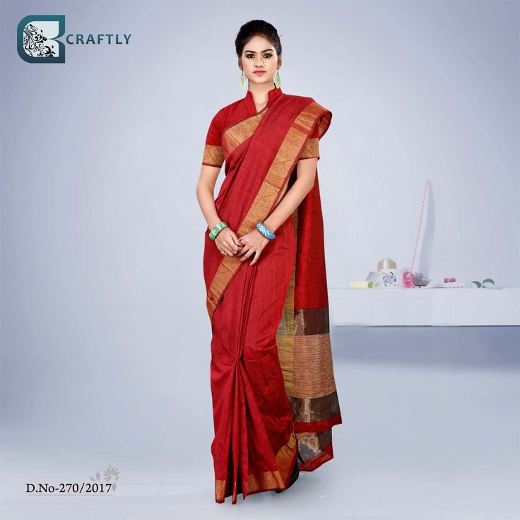 Ith blouse plain sarees with designer blouses sri divya edpeer red with golden border uniform sarees images appropriate as institution uniform sarees showroom uniform thecheapjerseys Gallery