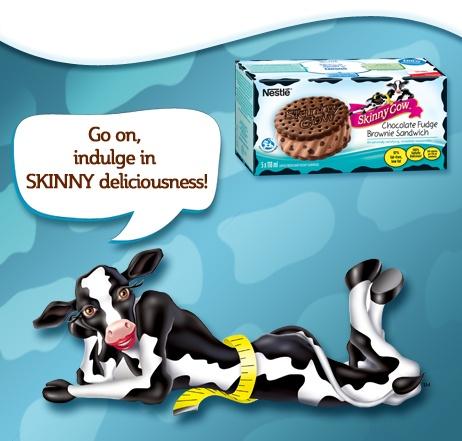 SKINNY COW Chocolate Fudge Brownie Sandwich: Body Image