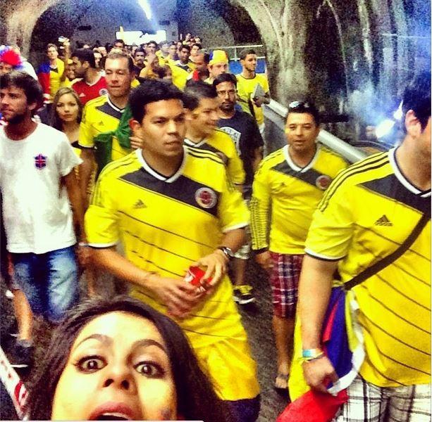 Invadimos #Brasilllllll #worldcup #elmundialconlahinchada tricolor