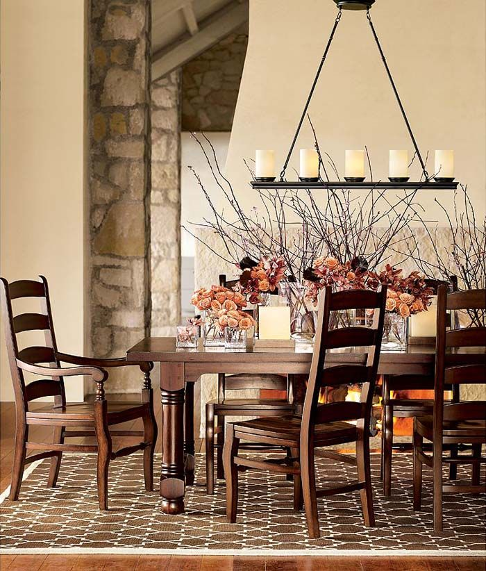 Rustic dining room design floral vase classic dining room chandeliers
