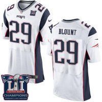 Men's New England Patriots #29 LeGarrette Blount White Super Bowl LI Champions Nen Elite Jersey