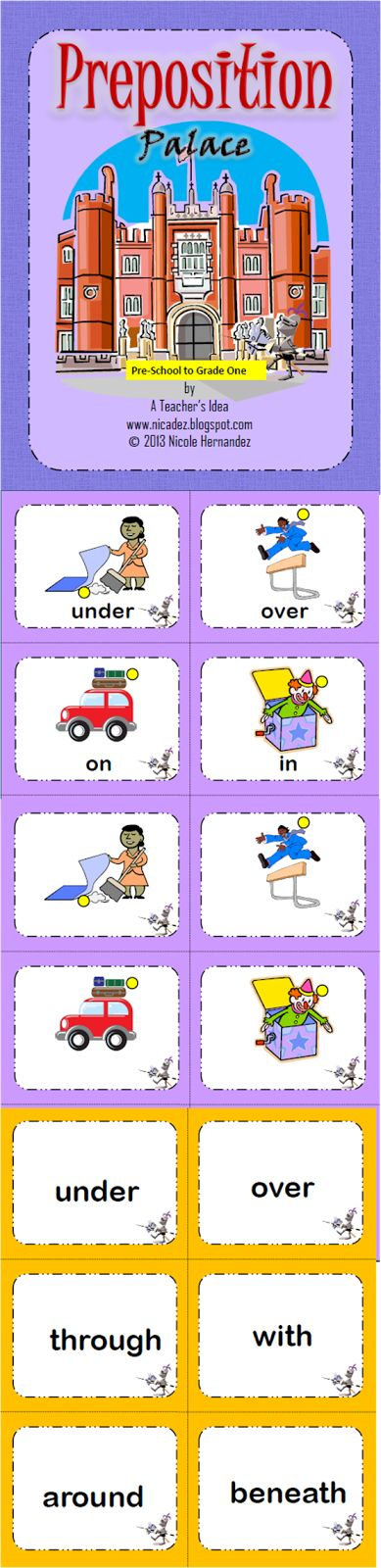 28 best Preposition activities images on Pinterest ...