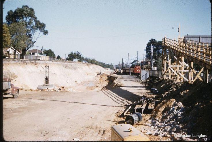 Elsternwick Suburban Tait Grade Separation Works site of future station