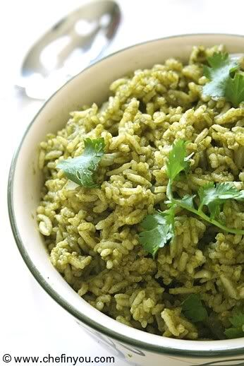Arroz Verde (Mexican Green Rice Recipe)