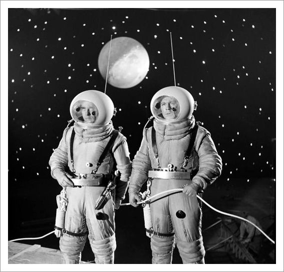 Destination Moon. Note the stage hand in the background!