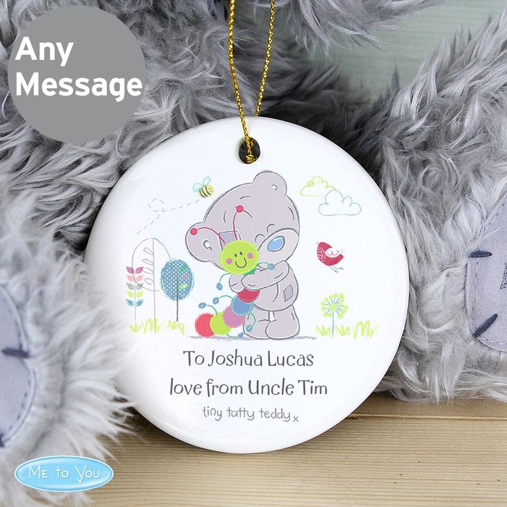 Personalise this ceramic decoration with 2 lines of text up to 20 characters per line.