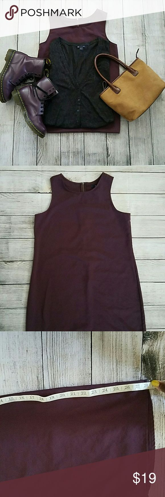 Plum Gap sleeveless sheath dress Gorgeous plum color sheath dress. A great closet staple for layering and business casual! GAP Dresses