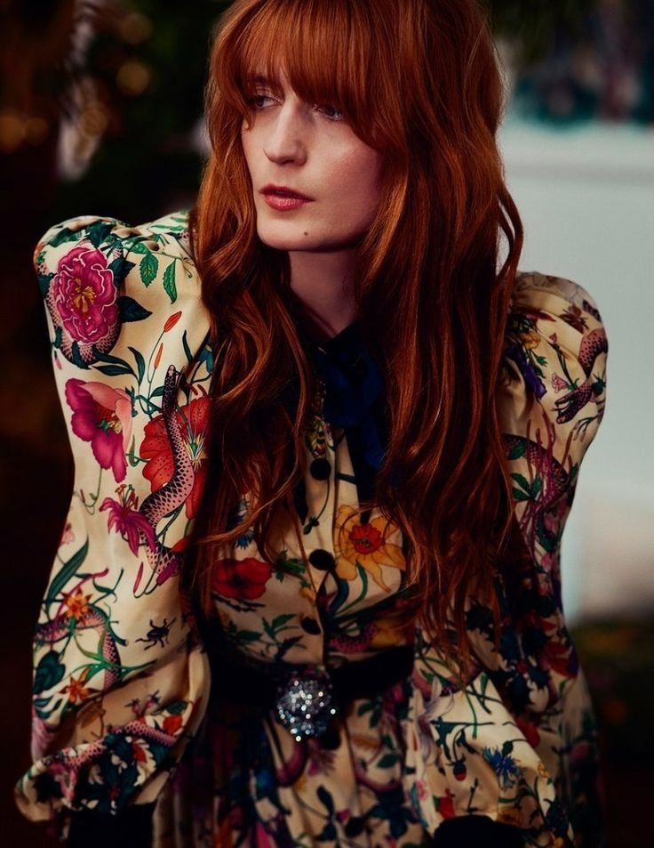 Florence Welch photographed by David Burton for the October 2017 Elle Italia